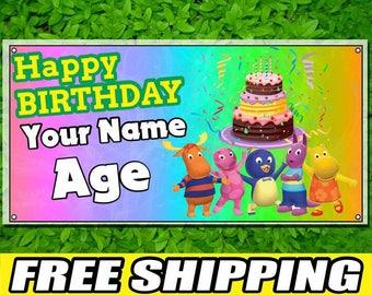 The Backyardigans Printed Banner Personalized Custom Name Vinyl Banner Happy Birthday Banner