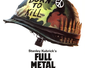 Full Metal Jacket Poster on High Quality Display Film