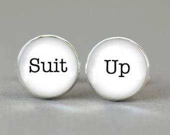 Suit Up cufflinks Suit up cuff links gift idea accessories men women charm Legendary
