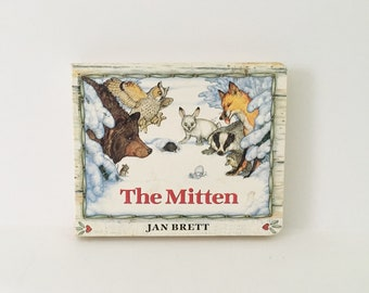 The Mitten Kids book Hardcover Childrens Book Animal Book Jan Brett 1989