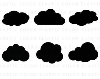 Cloud svg - cloud clipart - clouds clip art - cloud silhouette - cricut files svg, dxf, eps, png