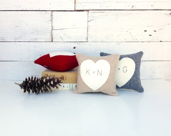Personalized Heart Pillow, Heart Pillow, Personalized Gift, Rustic Heart, Anniversary Gift, Gift for Her, Personalized Decorative Pillow