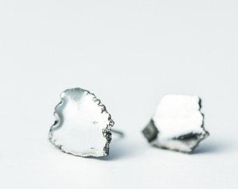 Simple stud earrings, simple silver earrings, minimalist earrings, post earrings, mens earrings, dainty earrings, everyday earrings, SE011