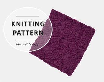 Interlocken Cowl Knitting Pattern | Easy knitting pattern