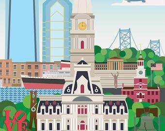 Philadelphia Print - 13'' x 19''