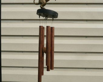 Brass unicorn with brass tubing collectable One Of A Kind Wind Chime