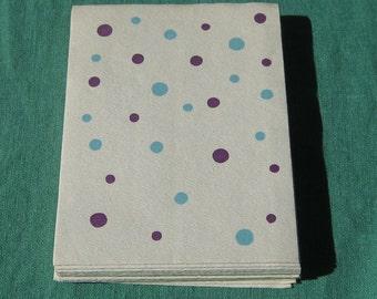 Vintage paper hand / guest towels polka dots - 17 towels