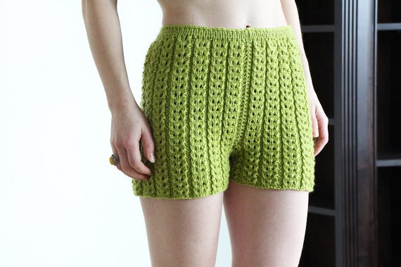 underwear knit - fashion knitted shorts - merino wool - warm underwear - women fashion shorts - knitted shorts - lingerie - warm knitwear SFIIxeJSY