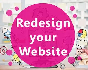 website redesign, website revamp, website face lift, responsive web design, website banner, website header, website icons, website graphics