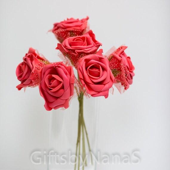 Red foam roses large red roses bulk silk flowers cheap silk red foam roses large red roses bulk silk flowers cheap silk flowers watermelon roses cheap real touch flowers artificial flowers from giftsbynanas on mightylinksfo
