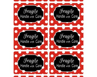 Fragile Handle with Care, Mailing Labels, Fragile Stickers, Handle with Care Labels, Package Labels, Handle with Care Stickers (926)
