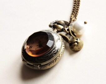 Alice Rabbit pocket watch Necklace