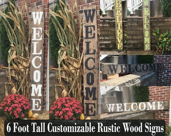 Reclaimed wood welcome sign, Reclaimed wood porch welcome sign, Reclaimed wood front porch welcome sign, Reclaimed wood large welcome sign