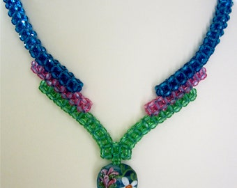 Cubic Right Angle Weave Necklace with CRAW the easy way tutorial