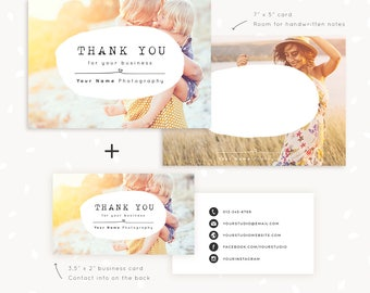 Photography business card template photoshop template photo thank you note cards template for photographers thank you card 7x5 thank you card accmission Gallery