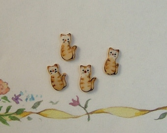 Orange Kitty Embellishment set of 4