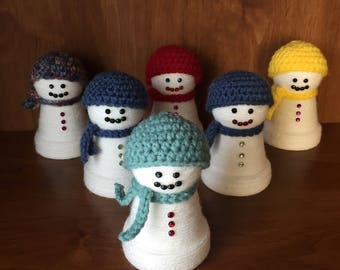 Cute Stockingcapped Snowman - terracotta