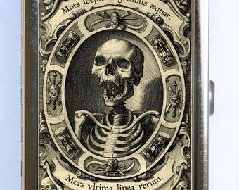 Memento Mori Skeleton Cigarette Case Wallet Business Card Holder