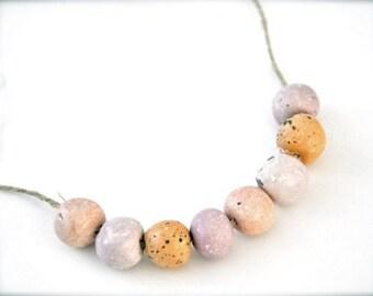 Boho perles collier - printemps rose corail Peach