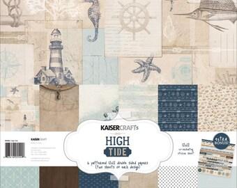 Kaisercraft, 12 x 12 Paper Pack, High Tide, Scrapbooking, Card Making,  Mixed Media, Mini Album,
