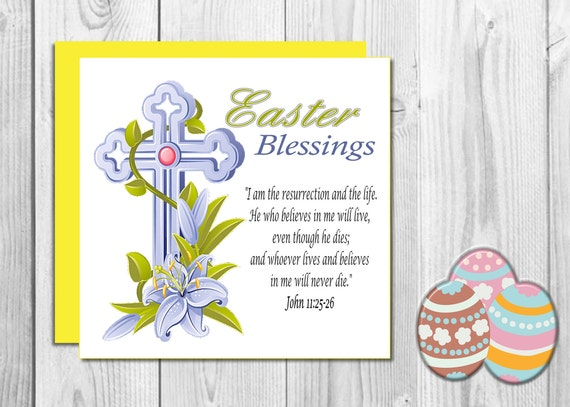 Traditional easter card christian easter card religious traditional easter card christian easter card religious easter card easter blessings easter sunday traditional greeting cards m4hsunfo Images