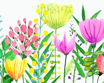 Watercolor Flowers of the Valley Clip Art Set
