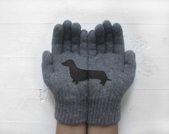 Dachshund Gloves, Inspirational Women Gift, Year Of The Dog, Chinese New Year, Unisex Gloves, Pet Gift, Inspirational Gift, Gift For Him