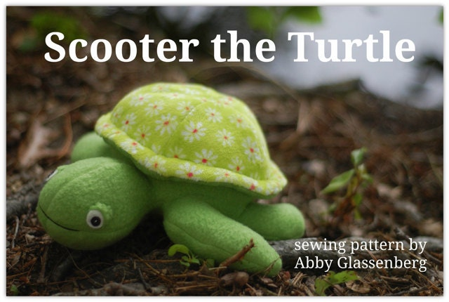 Scooter The Turtle Pdf Sewing Pattern Easy To Sew With