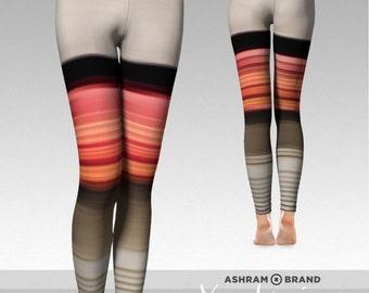 Workout Leggings • Red Speed • Autumn Dream 9 • Yoga Leggings • Printed Leggings, Womens Leggings, Yoga Clothes Print Tights Meditation Zen