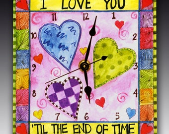 My Heart Ticks for You Clock
