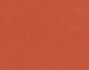 Clearance SALE Bella Solid Betty's Orange by Moda, almost a burnt orange, quilts, apparel, crafts, cotton fabric, solid orange