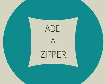 ADD A ZIPPER to your pillow cover