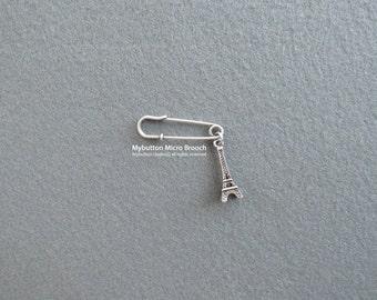 Micro charm brooch _ Eiffel