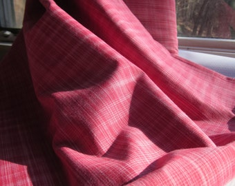 Red Fabric - Pink Fabric - Yarn Dyed Fabric - Fabric by the Yard - Crosshatch Smart - Loominous Collection - Anna Maria Horner - Free Spirit