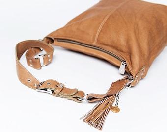 Handbag Classic/ full grain leather large size /  cappucino # 65