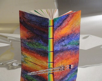 Rainbow Book with Swirling Textured Covers