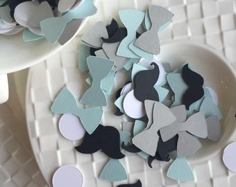 Little Man Baby Shower Shapes Confetti 500 Pieces Bow Tie Mustache Table Confetti Baby Shower Confetti Table Confetti Birthday Confetti
