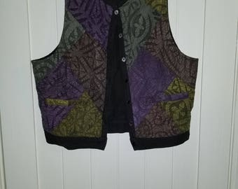 African textured multicolored vest