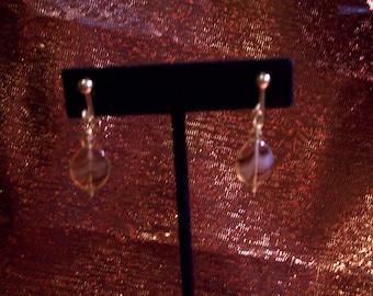 Amber Stripe Clip Earrings