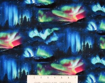 Space Fabric - Landscape Medley Aurora Borealis - Elizabeth's Studio YARD