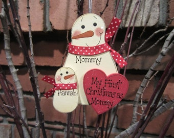 My First Christmas as Mommy Snowman Ornament