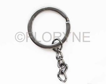 Key ring with chain and ring metal Double