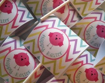 Easter Chicks Lollipop Labels