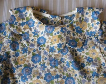 LIBERTY Frou-Frou petal collar blouse 1/3/6/9/12/18 months