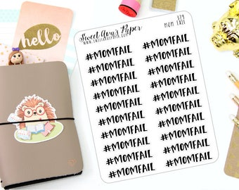 Mom Fail Planner Stickers - Word Art Planner Stickers - Mom Life Planner Stickers - Sleep Planner Stickers - 379