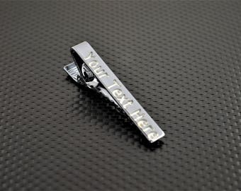 Gunmetal Tie Bar, Gunmetal Tie Clip, Gunmetal Wedding, Groomsmen Gift, Personalized Tie Bar, Custom Tie Bar, Gunmetal Gift, Custom Tie Clip