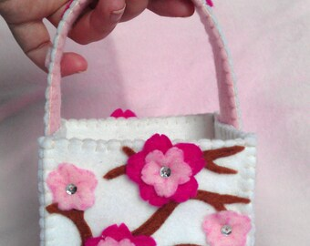 SOLD Blossom  Gift Bag (Felt) (AVAILABLE made to order)