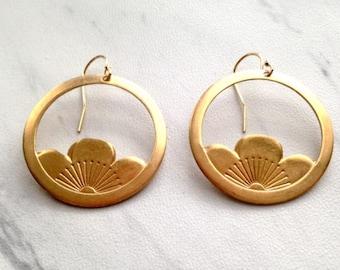 Vintage lotus earrings