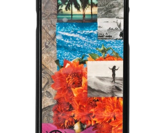 NEW iPhone 7/7+ Case, Water Dance, Best Seller, CA, Flowers, Tahiti, Surf, Hawaii, Dahlias, Tropical, Avail with Black or White case color