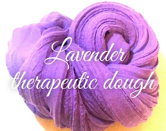SCENTED - Lavender therapeutic dough - 4oz - Stress relieving, super sizzly butter slime
